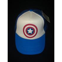 Gorra Escudo Capitán América Avengers Vengadores Azul