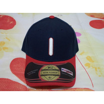 Gorra Azul C/rojo Indios Cleveland New Power Original 6 7/8