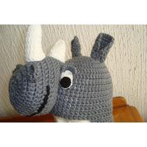 Gorros De Animales Tejidos Rinoceronte Y Conejo Fn8