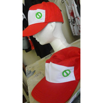 Gorra Pokemon Cosplay Red Ash No De Malla Tipo Camionero