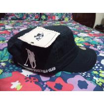 Gorra Azul Tipo Militar Polo Club Etiquetada Ajustable