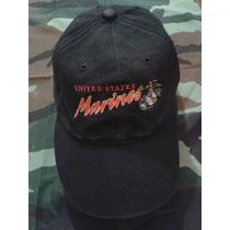 Gorra Militar Us Marines Importada Negra Bordada Made In Usa