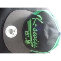 Gorra Bordada Marca K Swiss Negra Con Verde Nueva Solo $225