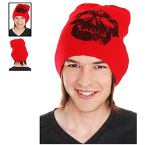 Hot Topic Gorro Red Skull Beanie
