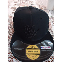 Gorra Negra Yankees D New York New Power Original 7 Y 7 3/8