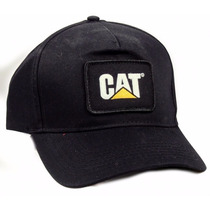 Gorra Caterpillar Negra Parche Nueva Original Cat Bordada