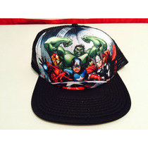 Gorra Marvel Advengers 2014 Para Adulto Ajustable Nueva