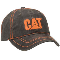 Gorra Caterpillar Gris Naranja Nueva Original Cat Bordada