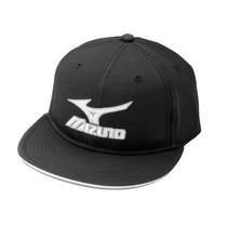 Gorra Mizuno Ala Plana Marca Hat Negro, Mediano / Grande