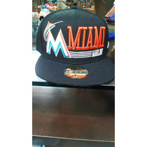 New Era 7 1/8 Marlins Cerrada Original