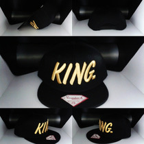 Gorras Snapback King Black Gold