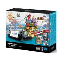 Wii-u 32gb Black Deluxe Set Mario Kart Y Nintendo Land