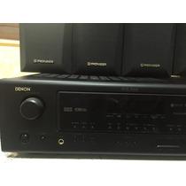 Amplificador Denon Impecable 5 Bocinas Pioneer Y Subw Onkyo
