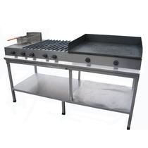 Estufa Industrial Plancha-4 Quemadores-freidora