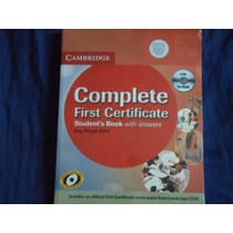Libro Complete First Certificate Con Cd-rom Y Audios