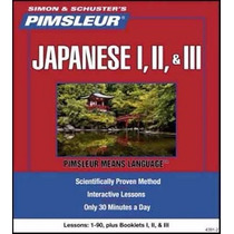 Aprende Japones Método Pimsleur 3 Niveles 90 Sesiones Audio