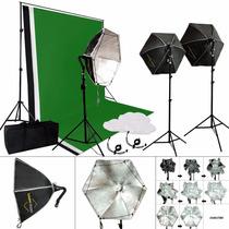 Kit Estudio Fotografico Softbox Luz Continua Octabox
