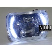 Faros Rectangulares Leds Tipo Audi Lupa Diamantados