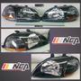 Faros Jdm Black Housing 96-98 Honda Civic Envio Gratis Nca