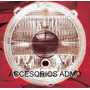 Faros Diamantados Con Lupa Y Soporte 3 Focos Vocho Tuning