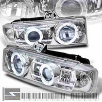 Faros Proyectores Cromados Chevrolet Astro 95 - 05 P/ Xenon