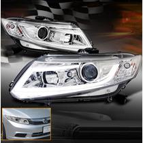 Honda Civic 2012 - 2013 Juego De Faros Con Proyector