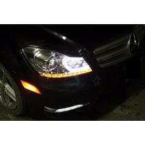 Faros Mercedes C200/350 C/motor Y Leds 12-13 (precio X Par)