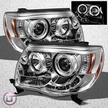 Faros Toyota Tacoma 2005-2011,ojo Angel,lupa,leds,accesorios