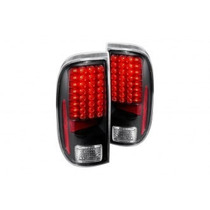 Calaveras Led Negras Para Ford F250 Super Duty 2008 - 2009