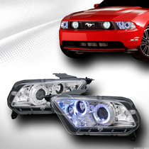Faros Proyectores Cromados Ford Mustang 2010 - 2014 V6 V8 Gt