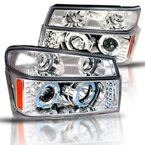 Par De Faros Lupa Led Ojo De Angel Gmc Canyon 2004 2005 2006