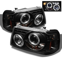 Par Faros Lupa Ojo Angel Led Ford Ranger 2001 2002 2003 2004