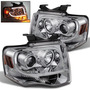 Faros Cromados Lupa Led Ford Expedition 2007 2008 2009 2010