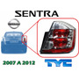 07-12 Nissan Sentra Calavera Trasera Cromada Derecha Tyc