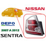 07-12 Nissan Sentra Calavera Trasera Cromada Izquierda Depo