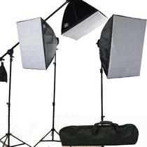 Nuevo Kit Iluminacion Softbox Boom Estudio Fotografico 3800w