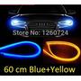 Kit Par Tiras Led Flexible Faro Tipo Audi Azul Amarillo