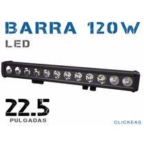 Barra Led Cree 120 W 22.5in Todoterrenos 4x4 Jeep Auto Faro