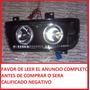 Faros Deportivos Para Jetta A3 Con Lupas Y Angel Eyes