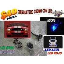 Chisgueteros Cromados Con Luz Tipo Sapito Lf208