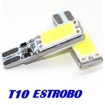 Motos Faros Cuartos Pellizco T10 Led Estrobo Alta Intensidad