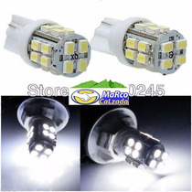 T10 Led Base De Pellizco 20 Smd Blanco Superbrillante