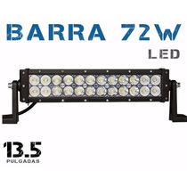 Barra Led 72w 13.5 Pulgadas Todo Terrenos 4x4 Jeep Auto Faro