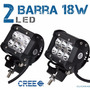2 Barra Led Cree 18w 3.5 In Todo Terreno 4x4 Jeep Auto Faro