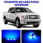 Ford F150 Lobo 2004 2012 Paquete Led Para Interior Kit Azul