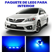 Toyota Corolla 2003 2013 Paquete Led Interior Kit Azul 03 13