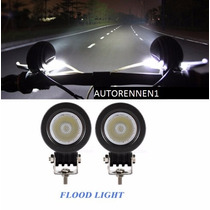 Lampara Faro 2pzs Luz Niebla Moto Flood Led 10w Bmw Canam