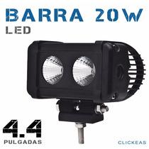 Barra Led Cree 20 W 4.4 In Todo Terrenos 4x4 Jeep Auto Faro
