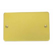 Oferta Placa Ciega De Aluminio Color Oro Surtek 136610 Hm4
