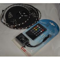 Kit Sistema Audiorrítmico Base Negra Tira 300 Leds Rgb 5050